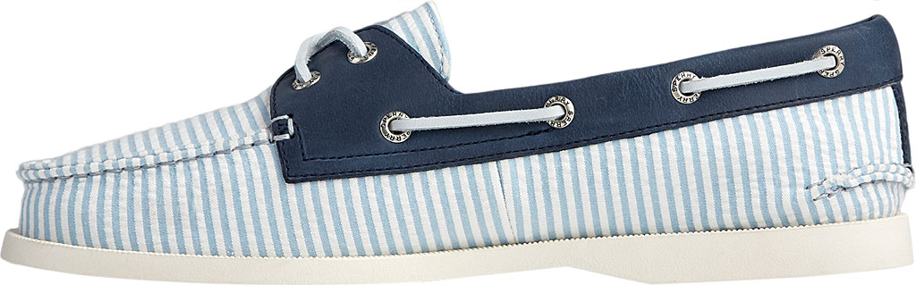 Women's Sperry Top-Sider Authentic Original 2-Eye Seersucker Boat Shoe, Blue Textile, large, image 3