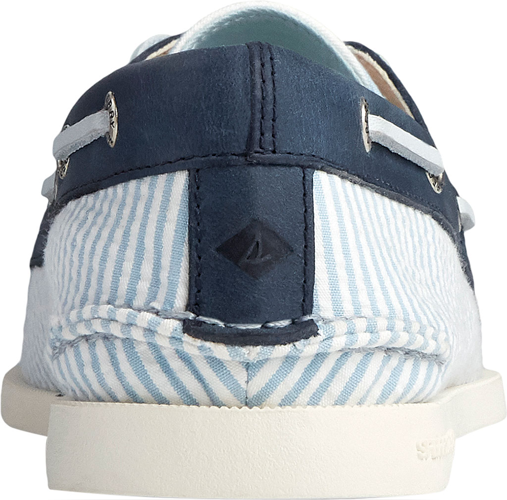 Women's Sperry Top-Sider Authentic Original 2-Eye Seersucker Boat Shoe, Blue Textile, large, image 4