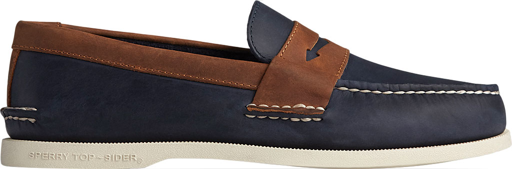 Men's Sperry Top-Sider Authentic Original Penny Wild Horse Loafer, Navy/Sonora Leather, large, image 2