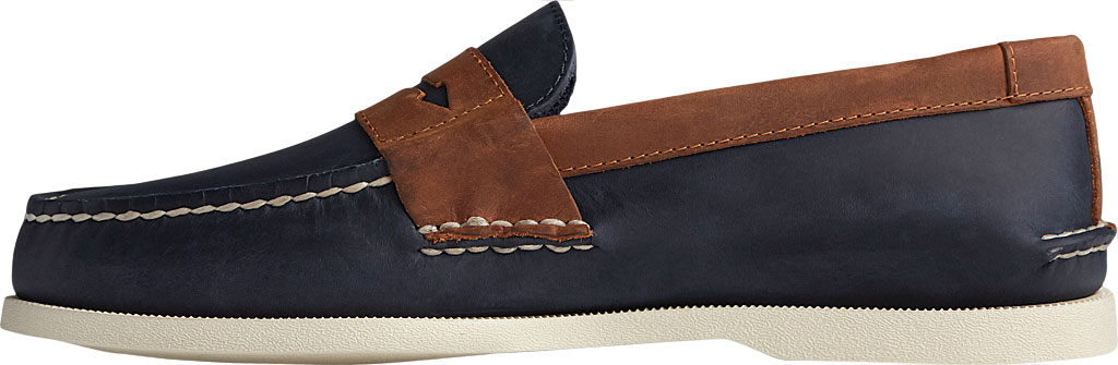 Men's Sperry Top-Sider Authentic Original Penny Wild Horse Loafer, Navy/Sonora Leather, large, image 3