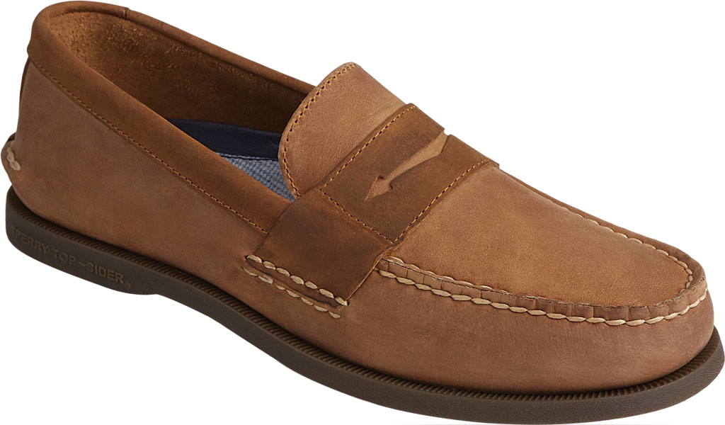 Men's Sperry Top-Sider Authentic Original Penny Wild Horse Loafer, Sahara/Sonora Leather, large, image 1
