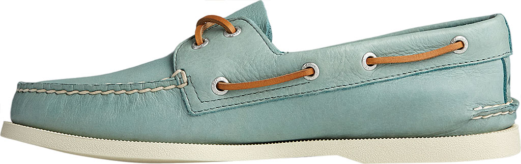 Men's Sperry Top-Sider Authentic Original 2-Eye Whisper Boat Shoe, Green Soft Leather, large, image 3