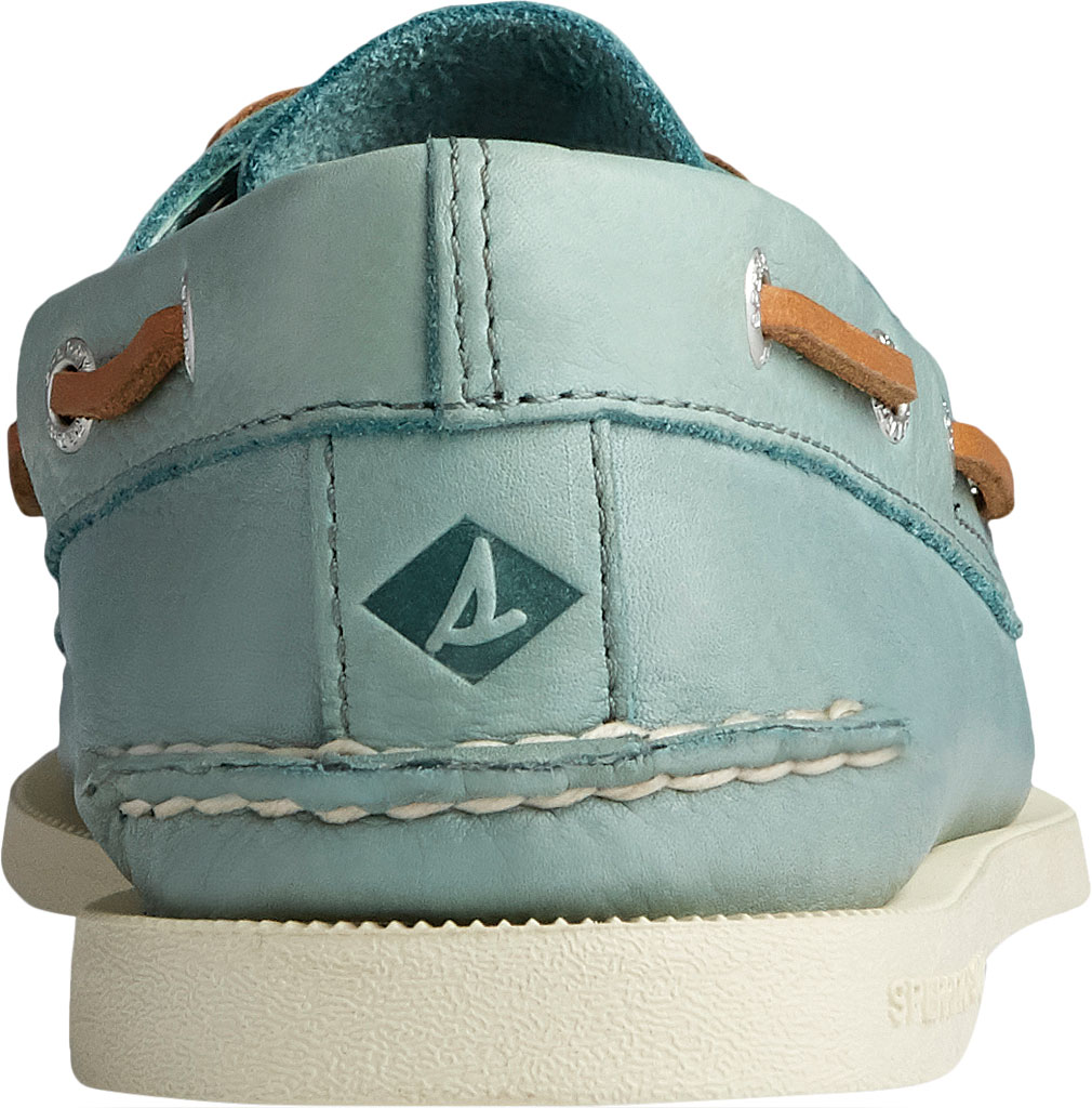 Men's Sperry Top-Sider Authentic Original 2-Eye Whisper Boat Shoe, Green Soft Leather, large, image 4