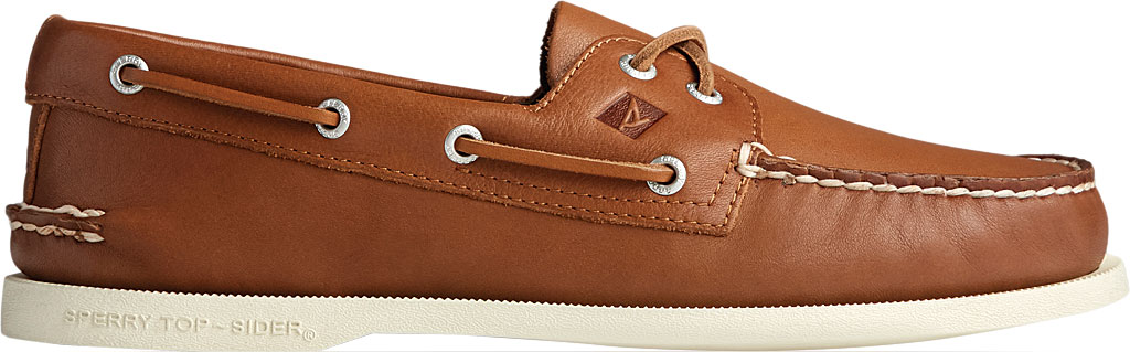 Men's Sperry Top-Sider Authentic Original 2-Eye Whisper Boat Shoe, Tan Soft Leather, large, image 2