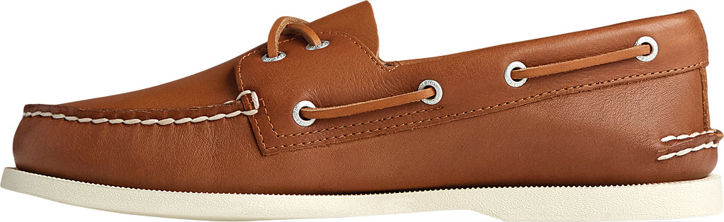 Men's Sperry Top-Sider Authentic Original 2-Eye Whisper Boat Shoe, Tan Soft Leather, large, image 3