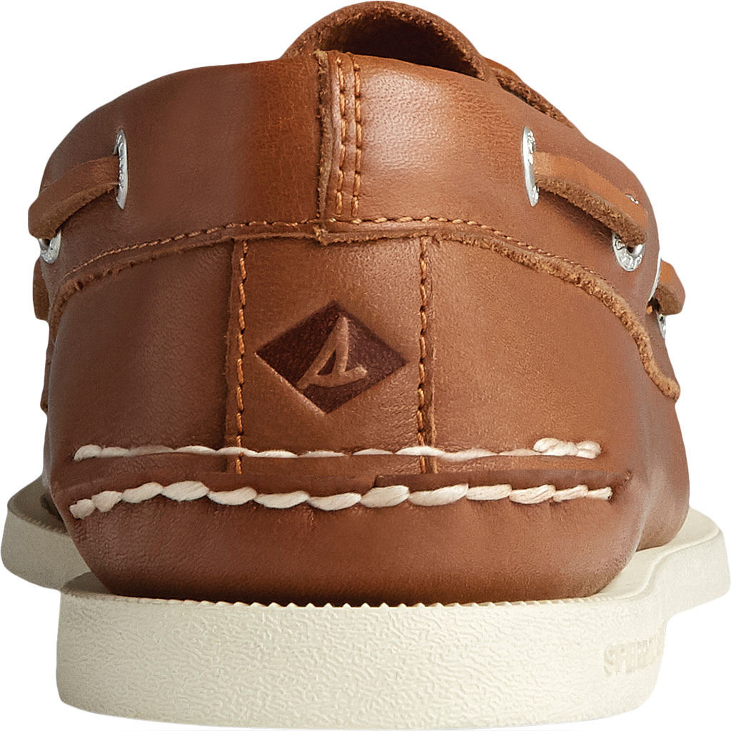Men's Sperry Top-Sider Authentic Original 2-Eye Whisper Boat Shoe, Tan Soft Leather, large, image 4