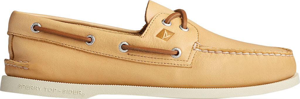 Men's Sperry Top-Sider Authentic Original 2-Eye Whisper Boat Shoe, Yellow Soft Leather, large, image 2