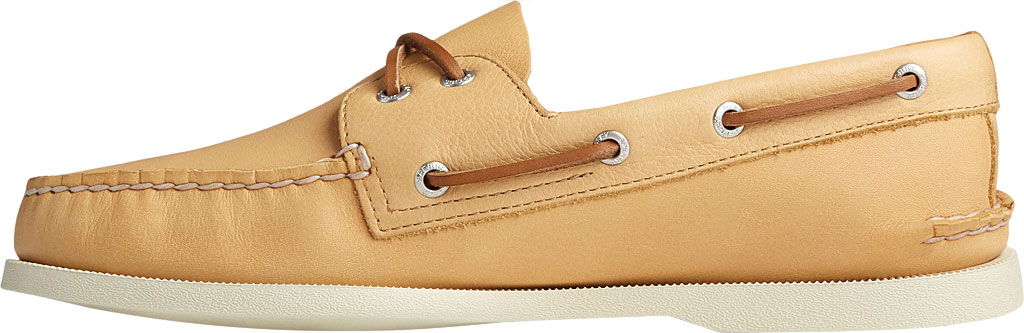 Men's Sperry Top-Sider Authentic Original 2-Eye Whisper Boat Shoe, Yellow Soft Leather, large, image 3