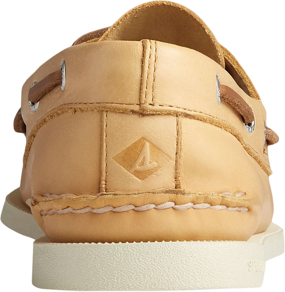 Men's Sperry Top-Sider Authentic Original 2-Eye Whisper Boat Shoe, Yellow Soft Leather, large, image 4