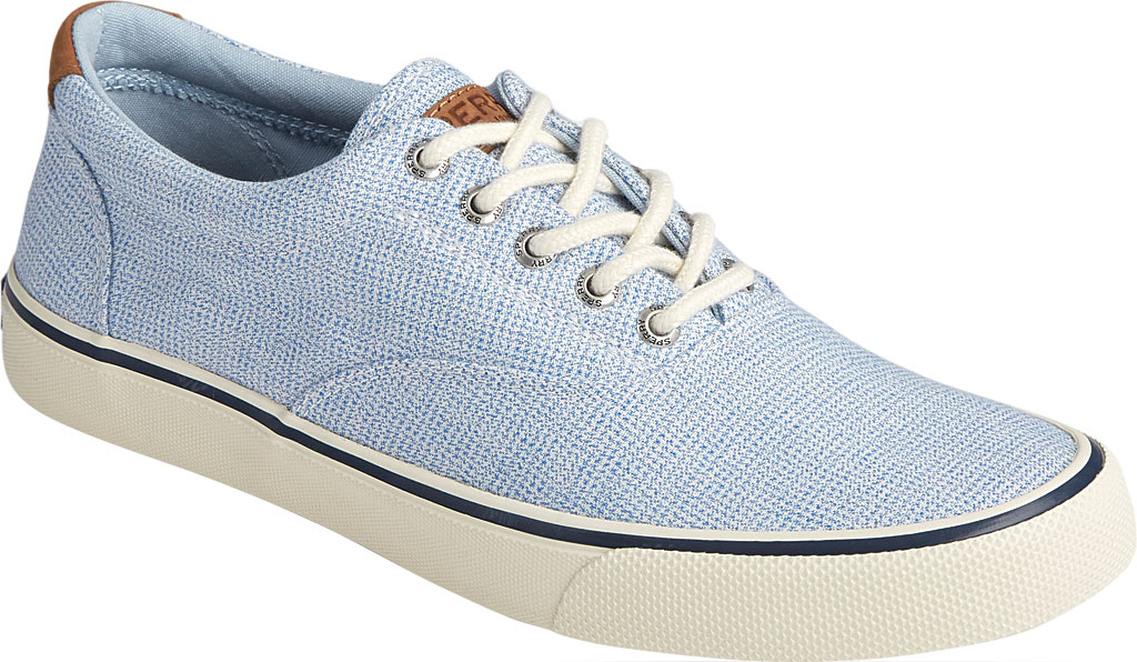 Men's Sperry Top-Sider Striper II CVO Gingham Sneaker, Blue Canvas, large, image 1
