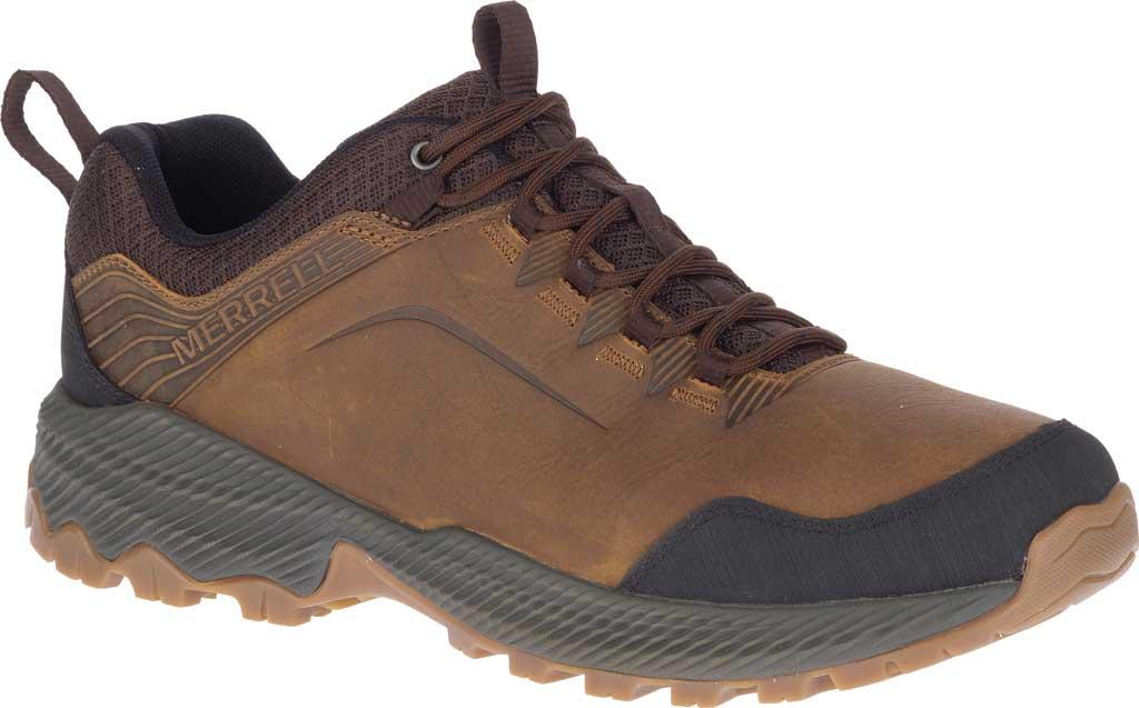 Men's Merrell Forestbound Hiking Shoe, Merrell Tan Full Grain Leather/Mesh, large, image 1