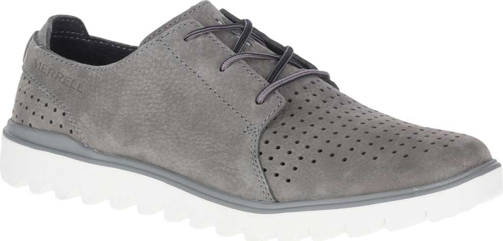 Men's Merrell Downtown Lace Oxford, Charcoal Full Grain Leather, large, image 1