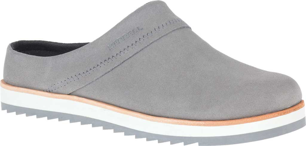 Women's Merrell Juno Suede Clog, Charcoal Suede, large, image 1