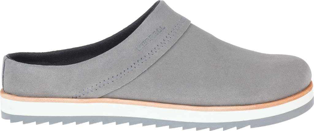 Women's Merrell Juno Suede Clog, Charcoal Suede, large, image 2