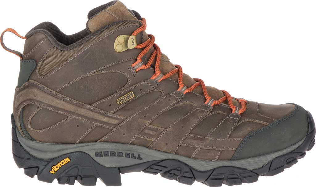 Men's Merrell Moab 2 Prime Mid Waterproof Hiking Boot, Canteen Full Grain Leather, large, image 2