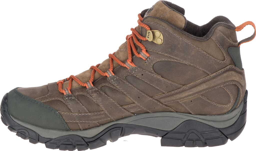 Men's Merrell Moab 2 Prime Mid Waterproof Hiking Boot, Canteen Full Grain Leather, large, image 3
