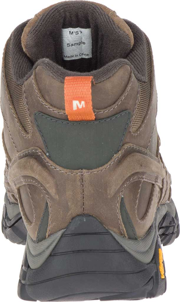 Men's Merrell Moab 2 Prime Mid Waterproof Hiking Boot, Canteen Full Grain Leather, large, image 4