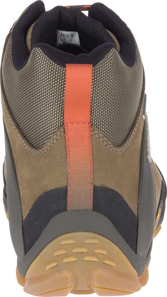 Men's Merrell Chameleon 8 Mid Waterproof Hiking Boot, Olive Nubuck/Mesh, large, image 4