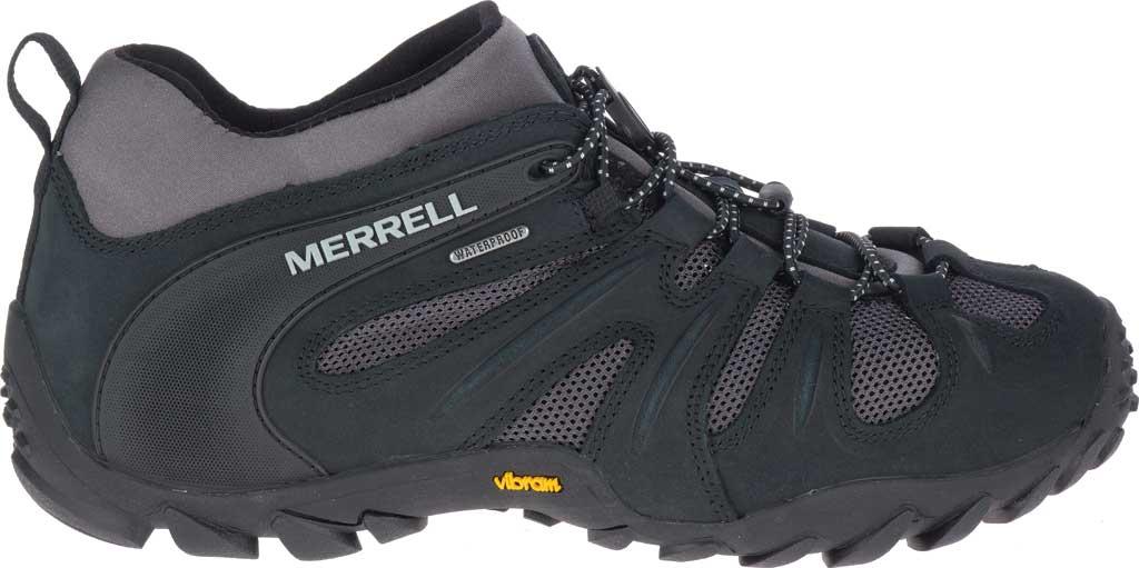 Men's Merrell Chameleon 8 Stretch Waterproof Hiking Shoe, Black/Grey Nubuck/Mesh, large, image 2