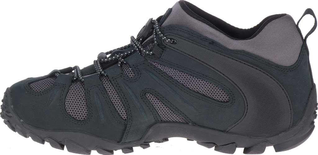 Men's Merrell Chameleon 8 Stretch Waterproof Hiking Shoe, Black/Grey Nubuck/Mesh, large, image 3