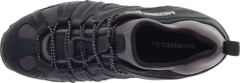 Men's Merrell Chameleon 8 Stretch Waterproof Hiking Shoe, Black/Grey Nubuck/Mesh, large, image 5