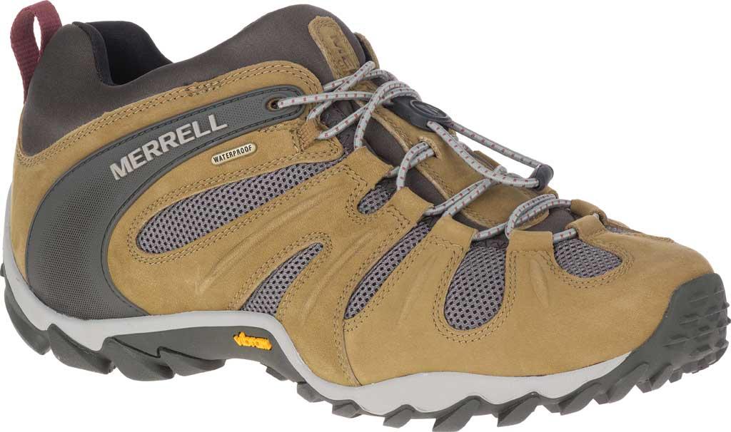 Men's Merrell Chameleon 8 Stretch Waterproof Hiking Shoe, Butternut Nubuck/Mesh, large, image 1