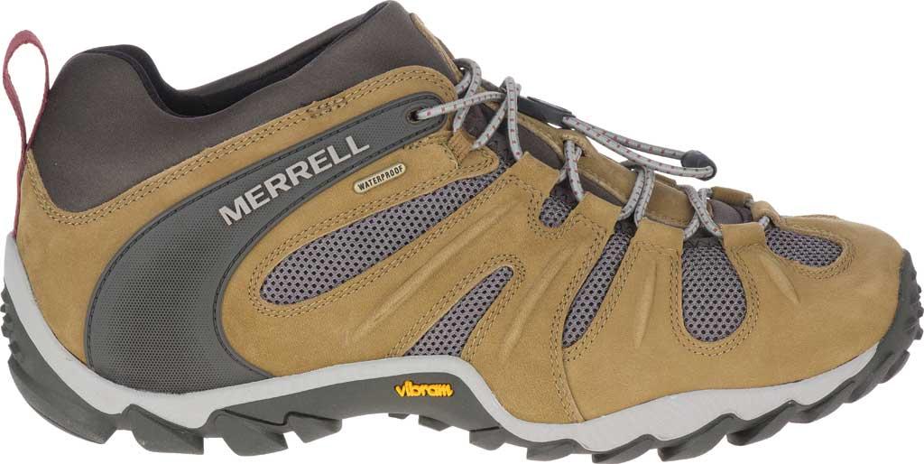 Men's Merrell Chameleon 8 Stretch Waterproof Hiking Shoe, Butternut Nubuck/Mesh, large, image 2