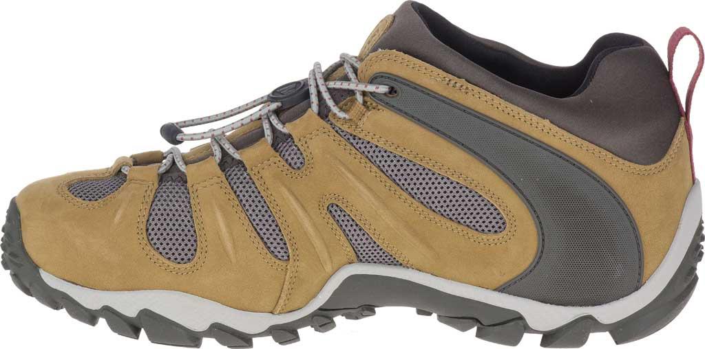 Men's Merrell Chameleon 8 Stretch Waterproof Hiking Shoe, Butternut Nubuck/Mesh, large, image 3