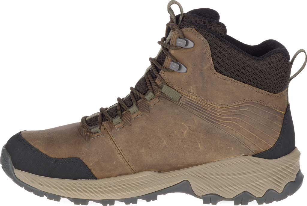 Men's Merrell Forestbound Mid Waterproof Hiking Boot, Cloudy Full Grain Leather/Mesh, large, image 3