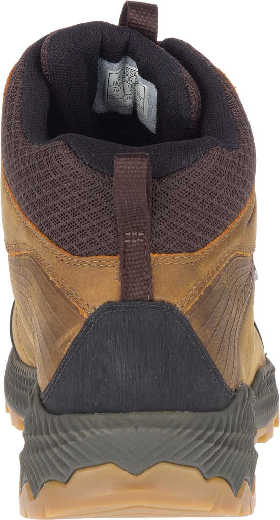 Men's Merrell Forestbound Mid Waterproof Hiking Boot, Merrell Tan Full Grain Leather/Mesh, large, image 4