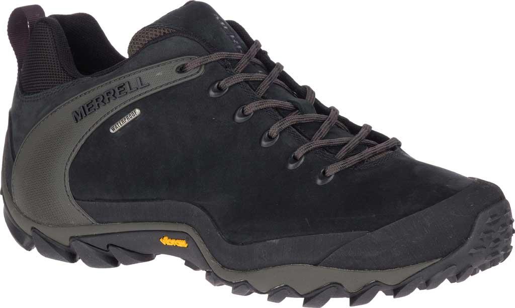 Men's Merrell Chameleon 8 Waterproof Hiking Shoe, Black Nubuck/Mesh, large, image 1