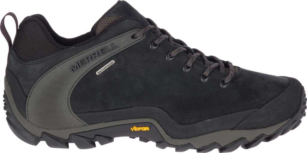 Men's Merrell Chameleon 8 Waterproof Hiking Shoe, Black Nubuck/Mesh, large, image 2
