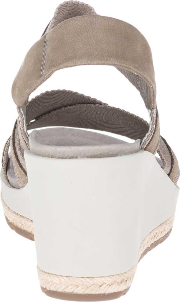 Women's Merrell Kaiteri Wedge Strap Sandal, Brindle Nubuck, large, image 4
