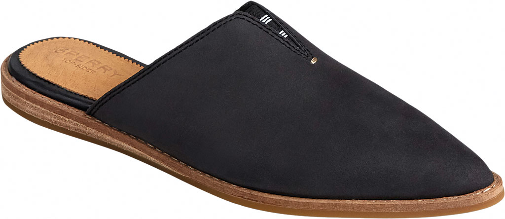 Women's Sperry Top-Sider Saybrook Leather Mule, Black Leather, large, image 1