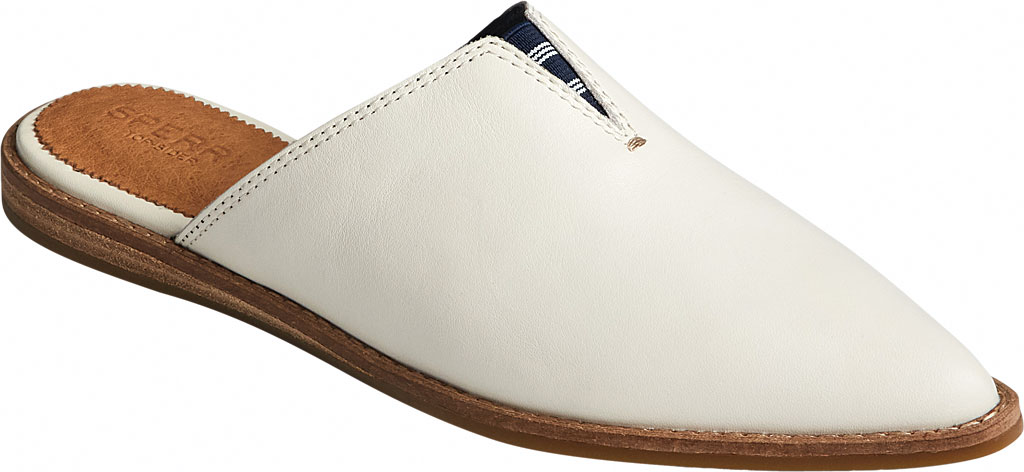 Women's Sperry Top-Sider Saybrook Leather Mule, White Leather, large, image 1