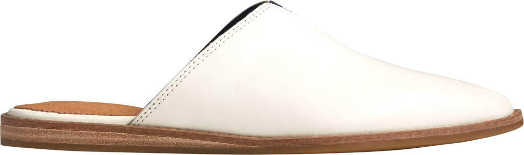 Women's Sperry Top-Sider Saybrook Leather Mule, White Leather, large, image 2