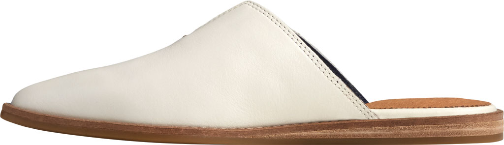 Women's Sperry Top-Sider Saybrook Leather Mule, White Leather, large, image 3