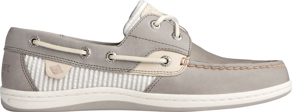 Women's Sperry Top-Sider Koifish Seersucker Stripe Boat Shoe, Cement Textile, large, image 2