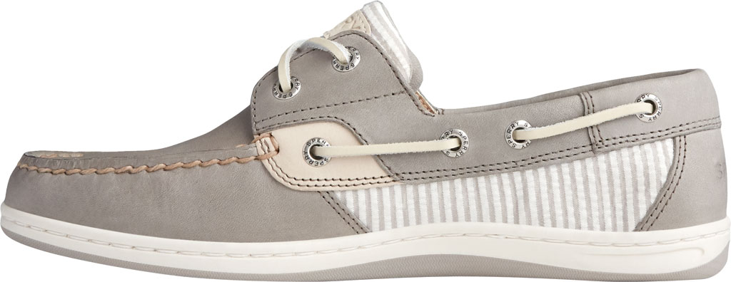 Women's Sperry Top-Sider Koifish Seersucker Stripe Boat Shoe, Cement Textile, large, image 3
