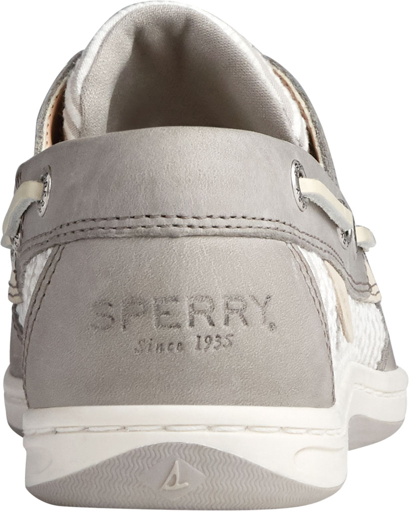 Women's Sperry Top-Sider Koifish Seersucker Stripe Boat Shoe, Cement Textile, large, image 4