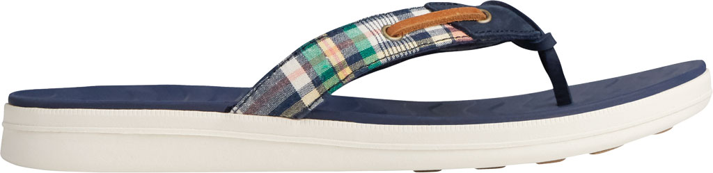 Women's Sperry Top-Sider Adriatic Skip Lace Kick Back Thong Sandal, Plaid Textile, large, image 2