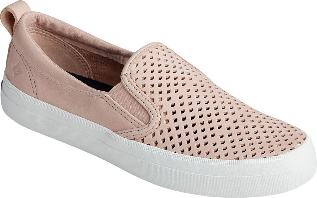 Women's Sperry Top-Sider Crest Twin Gore Scalloped Perforated Sneaker, Rose Dust Leather, large, image 1