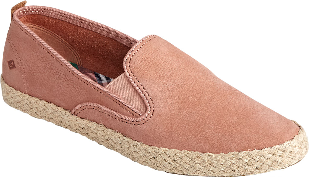 Women's Sperry Top-Sider Sailor Twin Gore Leather/Jute Sneaker, Blush Leather, large, image 1