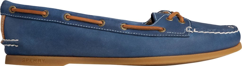 Women's Sperry Top-Sider Authentic Original Skimmer Leather Boat Shoe, Navy Leather, large, image 2
