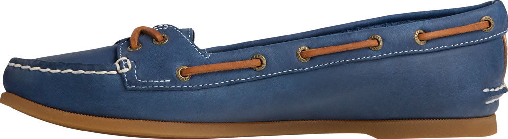 Women's Sperry Top-Sider Authentic Original Skimmer Leather Boat Shoe, Navy Leather, large, image 3