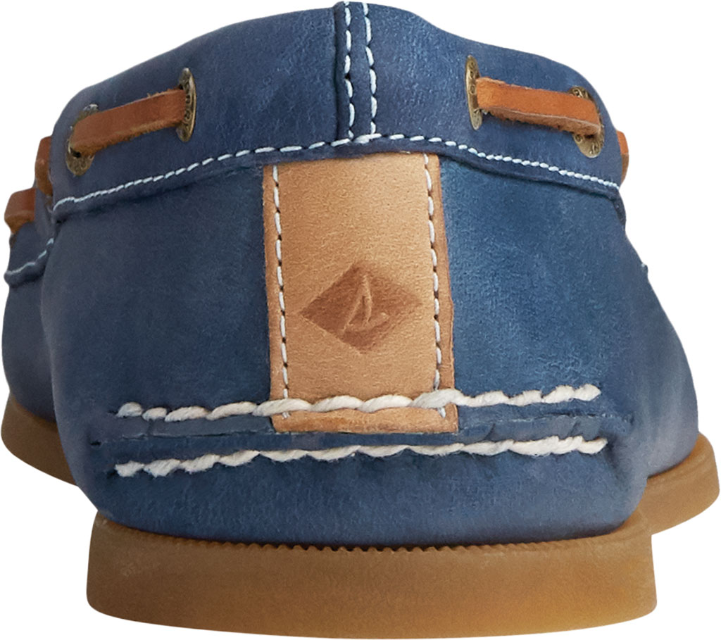 Women's Sperry Top-Sider Authentic Original Skimmer Leather Boat Shoe, Navy Leather, large, image 4