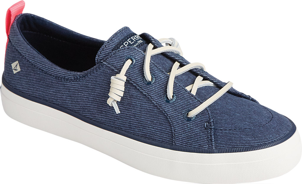 Women's Sperry Top-Sider Crest Vibe Washed Twill Sneaker, Navy Washed Twill, large, image 1