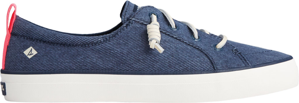 Women's Sperry Top-Sider Crest Vibe Washed Twill Sneaker, Navy Washed Twill, large, image 2