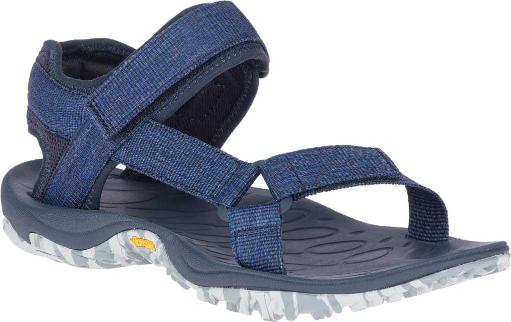 Men's Merrell Kahuna Web Active Sandal, Navy Eco Nylon Webbing/Mesh, large, image 1