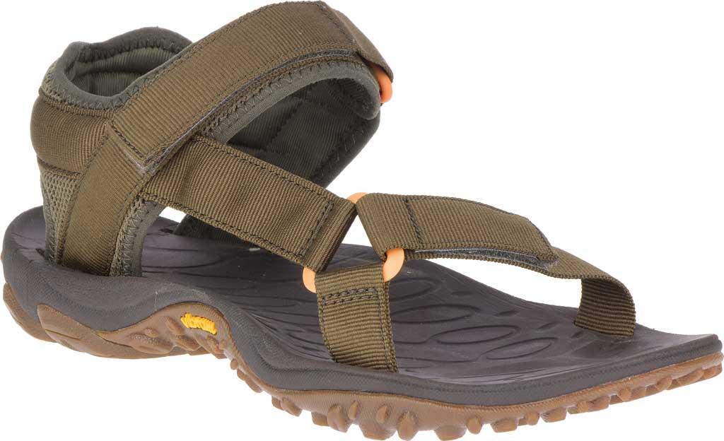 Men's Merrell Kahuna Web Active Sandal, Olive Nylon Webbing/Mesh, large, image 1